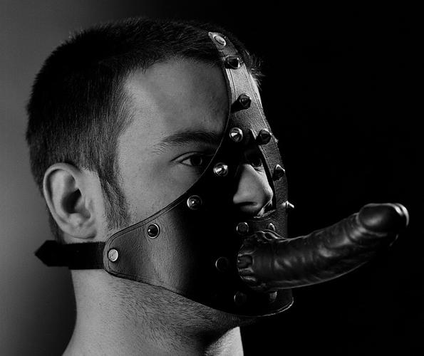 Kopf-Harness mit schw. Kunstglied