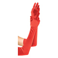 Extra Long Satin Gloves (red, one size)