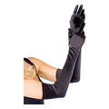 Extra Long Satin Gloves (black, one size)