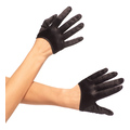 Mini Cropped Satin Gloves (one size)
