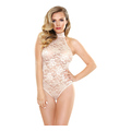 CHLOE LACE PLAYSUIT CHAMPAGNE