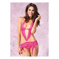 2pcs Lace Garter Dress (pink)