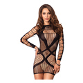 Multi Net Mini Dress (O/S)