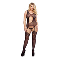 Bodystocking with Floral Lace Accents
