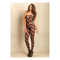Sheer Chevron Bodystocking (one size)