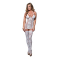 Suspender Bodystocking (white)