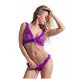 Set with Soft Bra and G-String - Purple