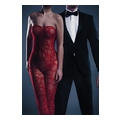 Alina Bodystocking - Red