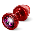 Diogol - Anni Butt Plug Round Red & Pink 25 mm