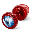 Diogol - Anni Butt Plug Round Red & Blue 25 mm