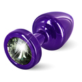 Diogol - Anni Butt Plug Round Purple & Black 25 mm