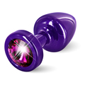 Diogol - Anni Butt Plug Round Purple & Pink 25 mm