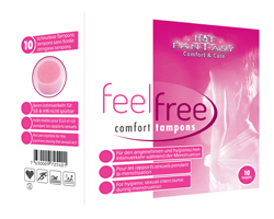 HOT FANTASY feel free comfort tampons, 10 Stck.
