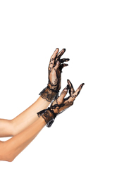 Wrist Length Lace Gloves