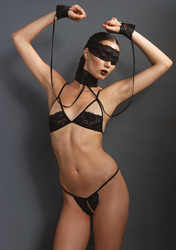 4Pc. Bondage Lingerie Set