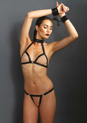3Pc. Bondage Lingerie Set
