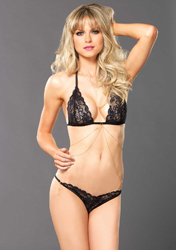 Cascade Lingerie Set (black)