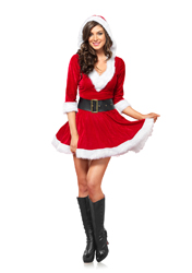 Mrs. Claus Hooded Dress (S/M)