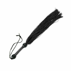 S&M - Medium Rubber Whip Black